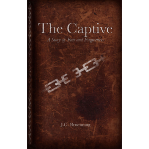 The Captive written by J.G. Bruenning. Published by A Silver Thread Publishing. Paperbound. $14.95